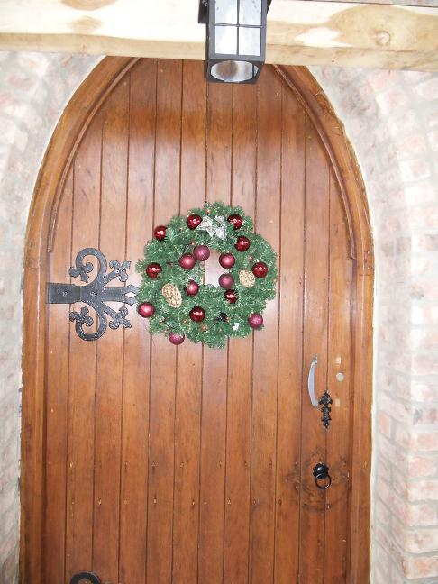 Christmas wreath on the Church Door