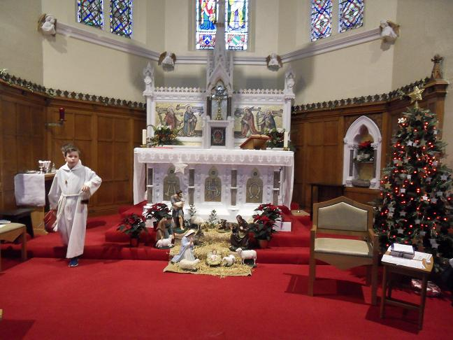 The Altar and Nativity Scene